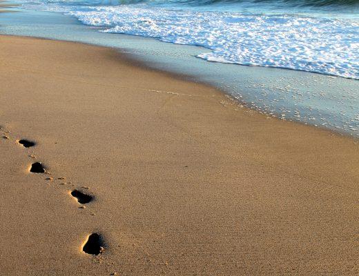 Meer Fußspuren