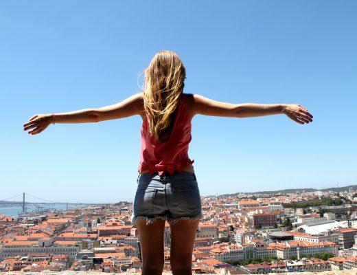 Lissabon Mädchen Ausblick