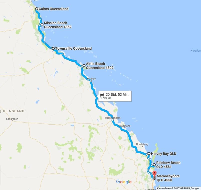Karte Australien Und Umgebung.Von Cairns Nach Sydney Der Guide Für Die Ostküste Australiens